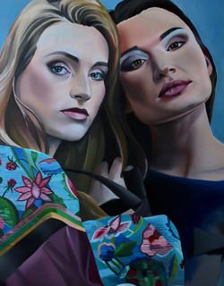 Alina i Balladyna, 80x60cm, oil, 2020