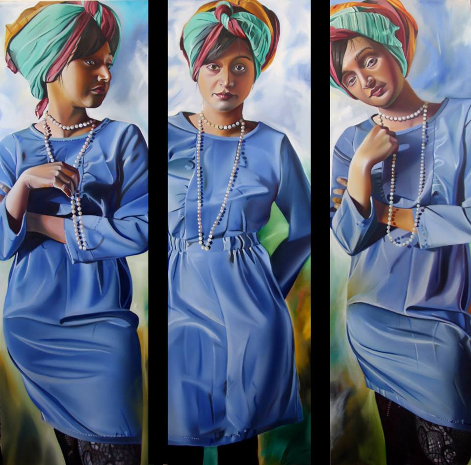 Sifat, 3x150cmx50cm, oil, 2013, The picture is available for sale at the Tadeo-Art Gallery