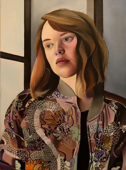 Ksenia, 72x54, oil, 2016