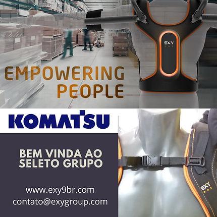 Komatsu Mining inicia uso de exoesqueleto industrial ExyONE em suas operações (Exy Exy9br www.exy9br.com)
