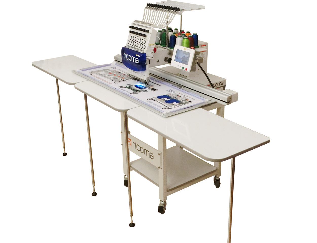 מכונת רקמה ראש אחד עם שולחן תוספת