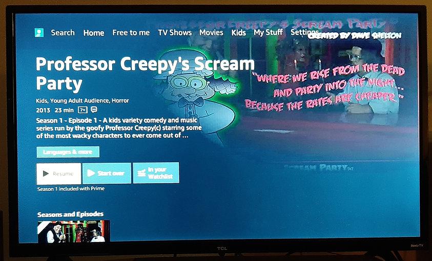 professor creepys scream party amazon tv