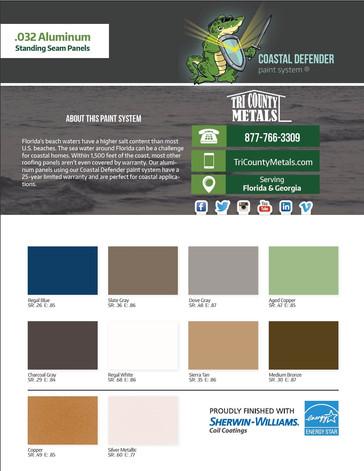 Coastal Defender Color Chart