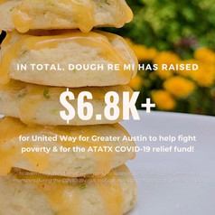 We are proud to announce that we have donated $6.8K+ to the All Together ATX COVID-19 relief fund and United Way for Greater Austin since we've opened!