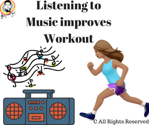 Listening to music improves workout