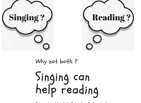 Singing Can Help Children with Their Reading Skills 唱歌有助孩子閱讀