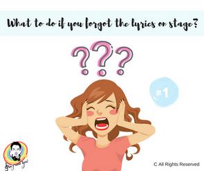 Learn Singing - Forget Lyrics #1 學唱歌 - 忘記歌詞的應對方法 #1