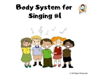 Body System for Singing #1 唱歌時所需的身體結構