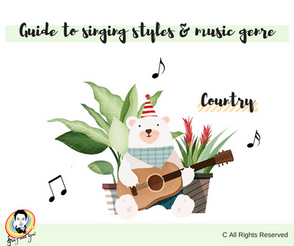 Guide to singing styles and music genre - Country