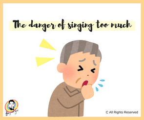The danger of singing too much