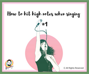 How to hit high notes when singing #1