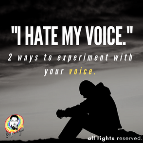 """I hate my voice"" 「我的聲音不好聽……」"