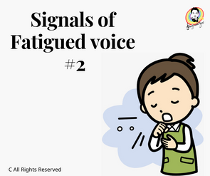 Siginals of Fatigued voice #2