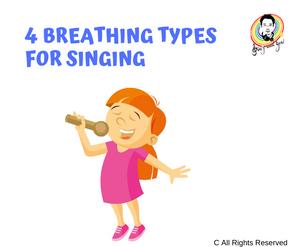4 Breathing types for singing 4個唱歌時的呼吸方式