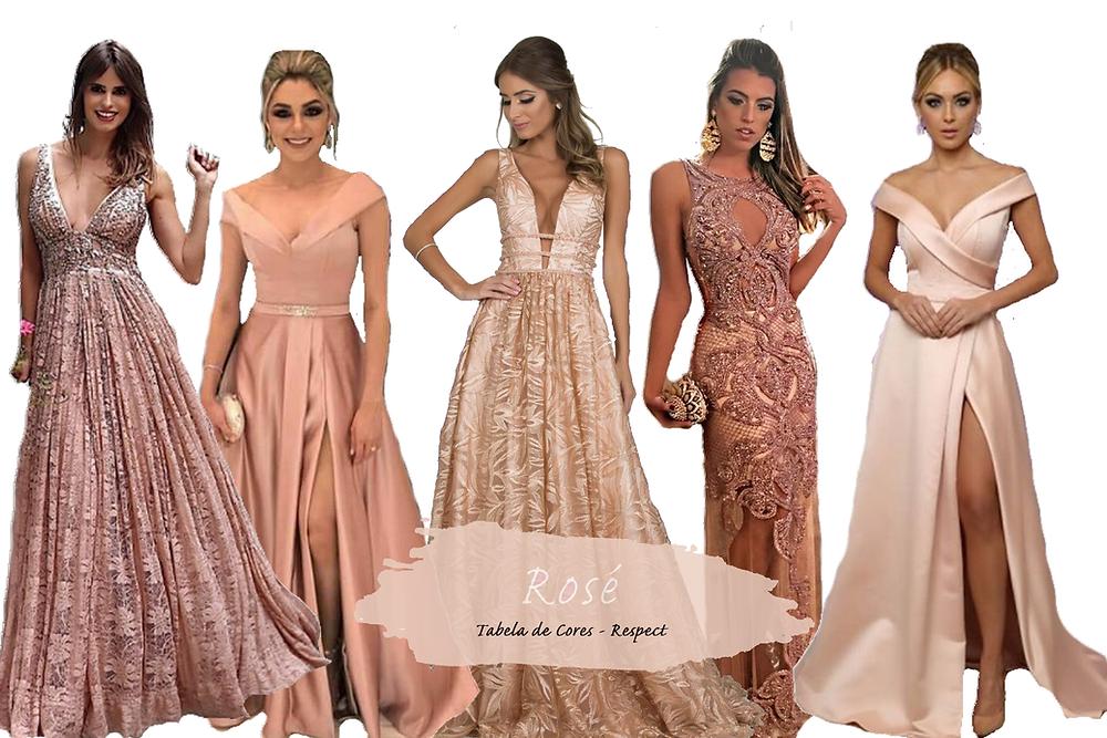 Vestido para Madrinhas - Rosé | Tons de Rosa
