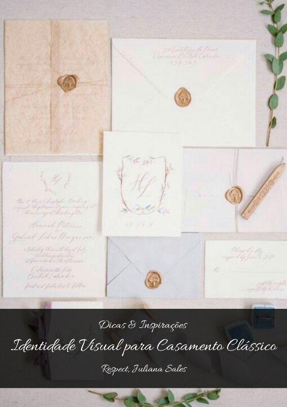 Identidade Visual para Casamento Clássico