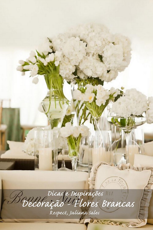 Decoração - Flores Brancas