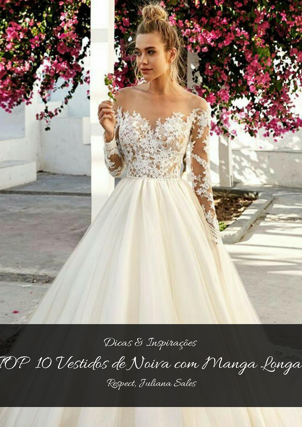 TOP 10 Vestidos de Noiva de Manga Longa