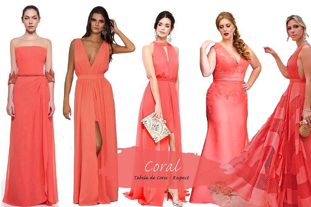 Vestido para Madrinhas - Coral | Tons de Rosa