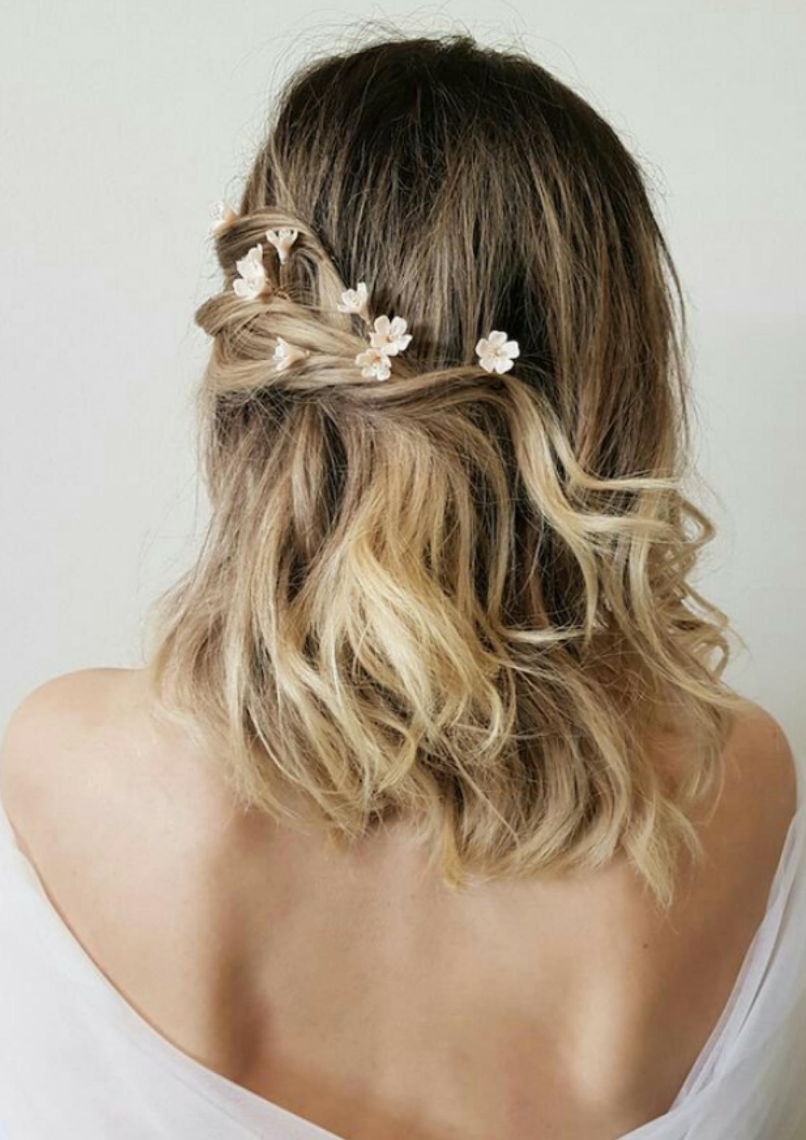 Penteados para Noivas de Cabelo Curt
