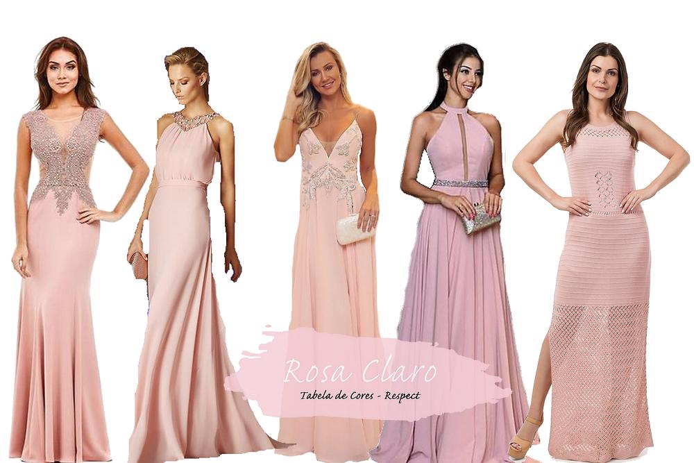 Vestido para Madrinhas - Rosa Claro | Tons de Rosa