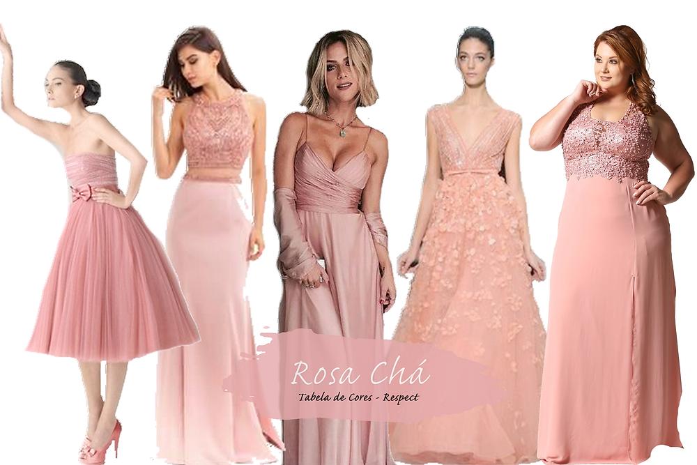 Vestido para Madrinhas - Rosa Chá | Tons de Rosa