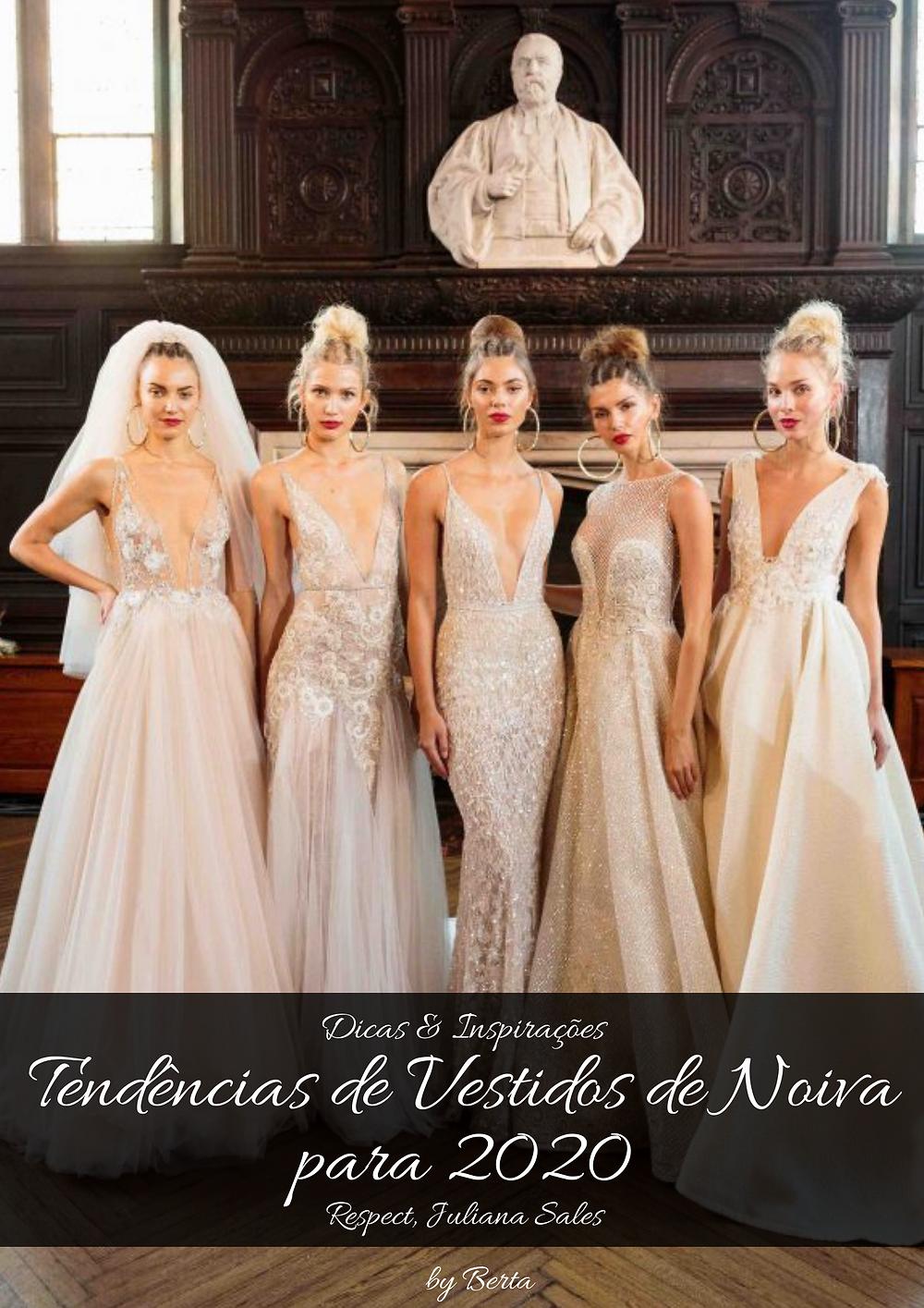 Tendências de Vestidos de Noiva para 2020