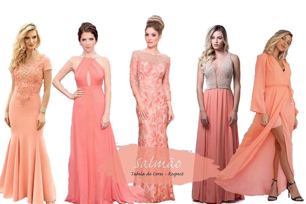 Vestido para Madrinhas - Salmão | Tons de Rosa