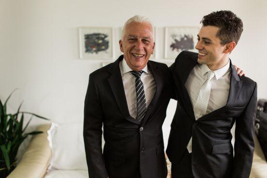 Foto do Noivo com o Pai