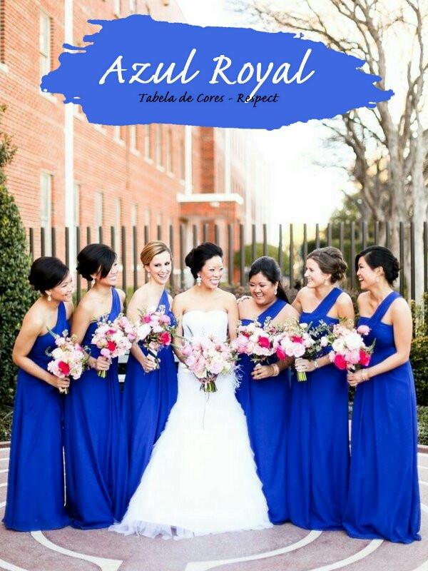 Madrinhas de Azul Royal