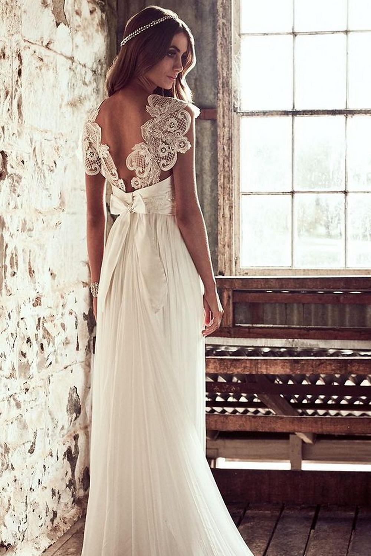 Vestido de Noiva com decote nas Costas - Anna Campbell