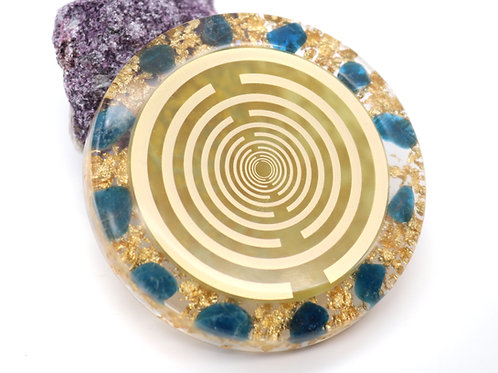 Apatite orgone energy disc