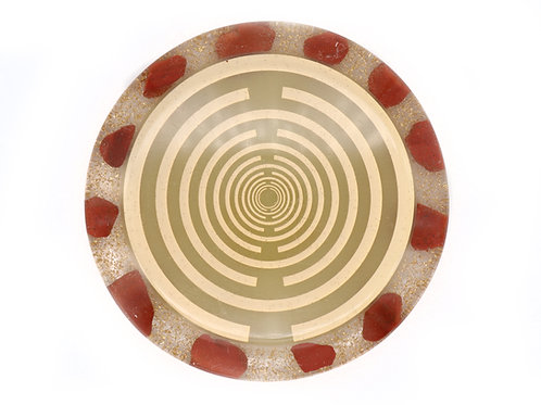 Red jasper orgone disc