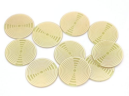 16mm gold plated Lakhovsky MWO radionics antenna 10 pieces