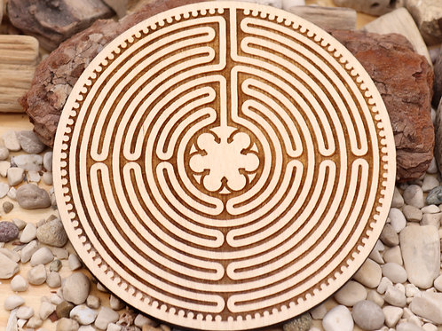 Chartres labyrinth coaster 100mm diameter
