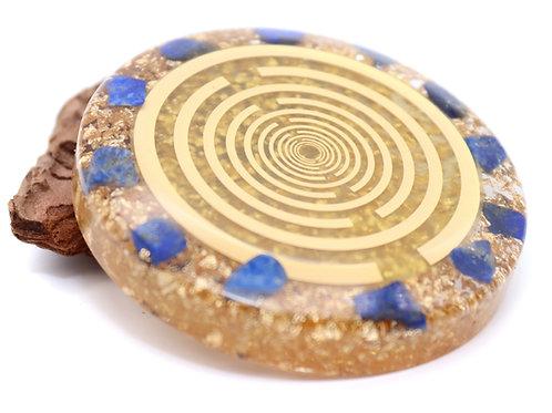 Lapis Lazuli orgone disc of creativity