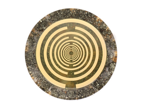 Pyrite orgone solar plexus chakra healing disc