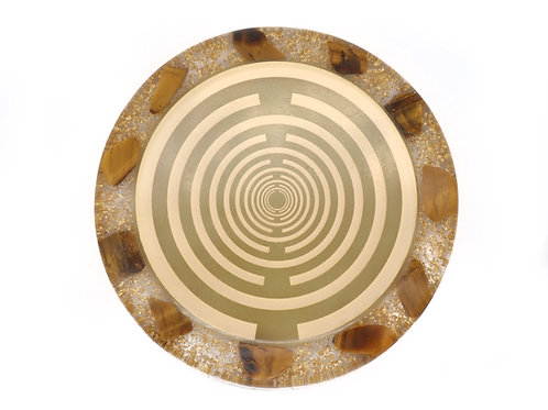 Orgone disc for protection and good luck