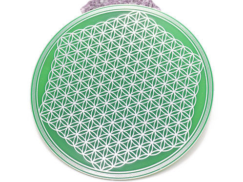 Flower of life sacred geometry crystal grid