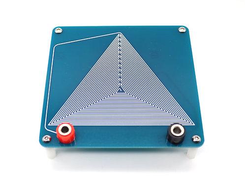 Triangular scalar wave coil module