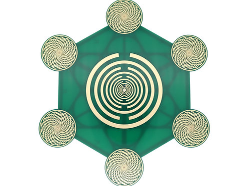 Crystal grid EMF protection set of radionics plate and citrine crystals