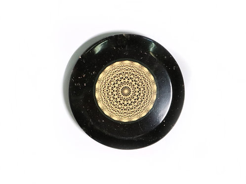 Elite Shungite protection disc with tesseract
