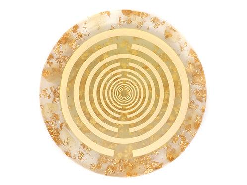 Citrine orgone energy disc