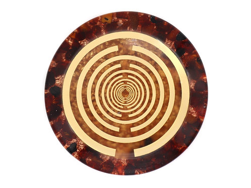 Red garnet orgone disc of revitalization