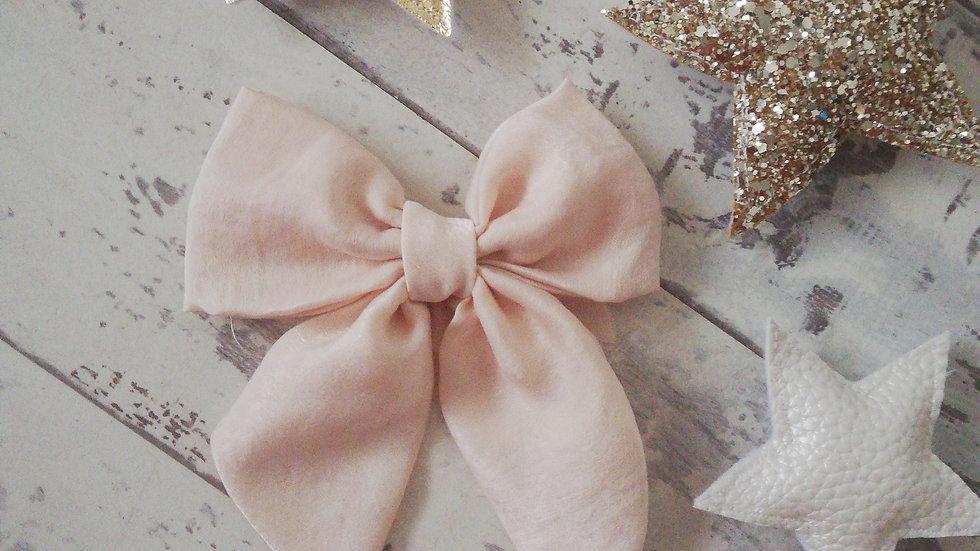 Cream midi sailor bow clip or hairband