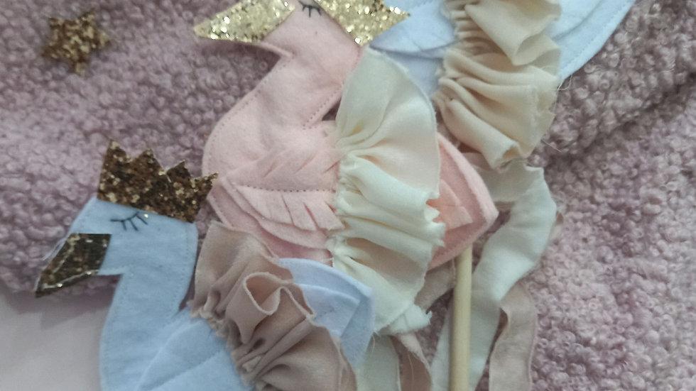 Swan fairy wands