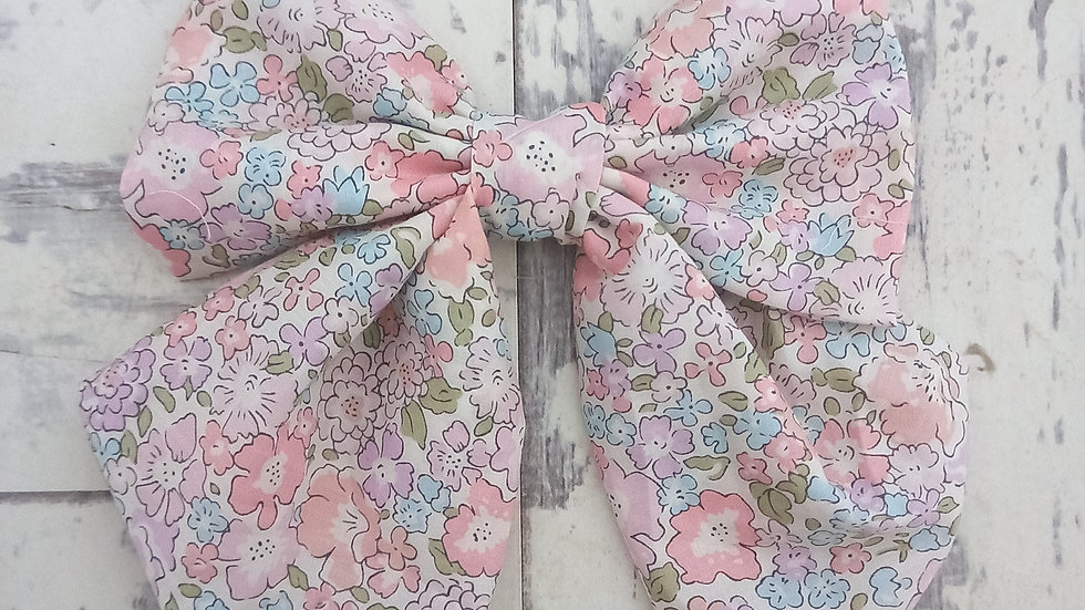 Medium liberty print sailor bow