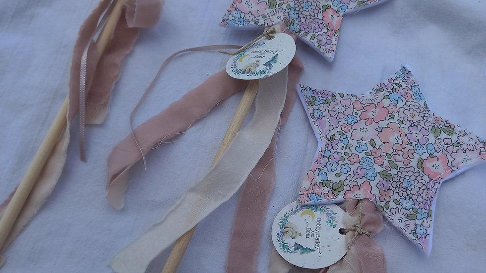 Liberty print star fairy wand