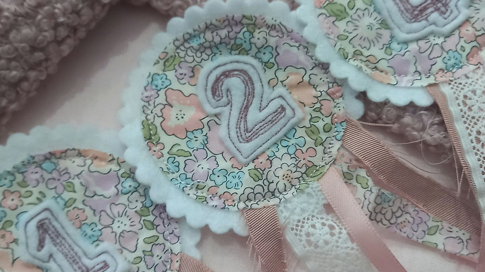 Embroideted liberty birthday badge