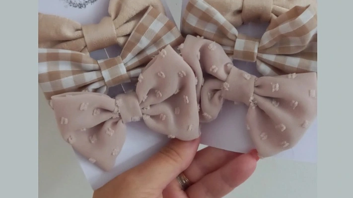 Neutral bow clips set of 3